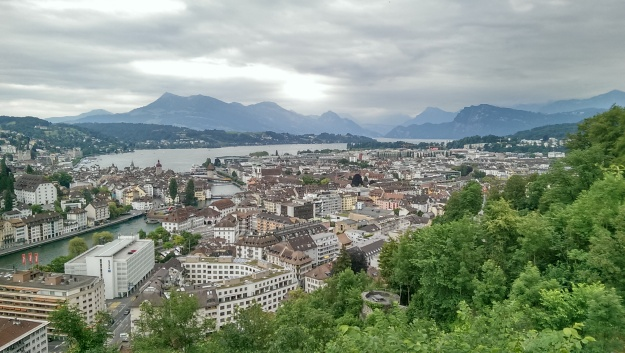 A view over the city of Lucerne.