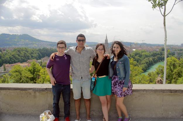 Me and some of the interns  during our visit to Bern